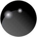 Svart (blank)